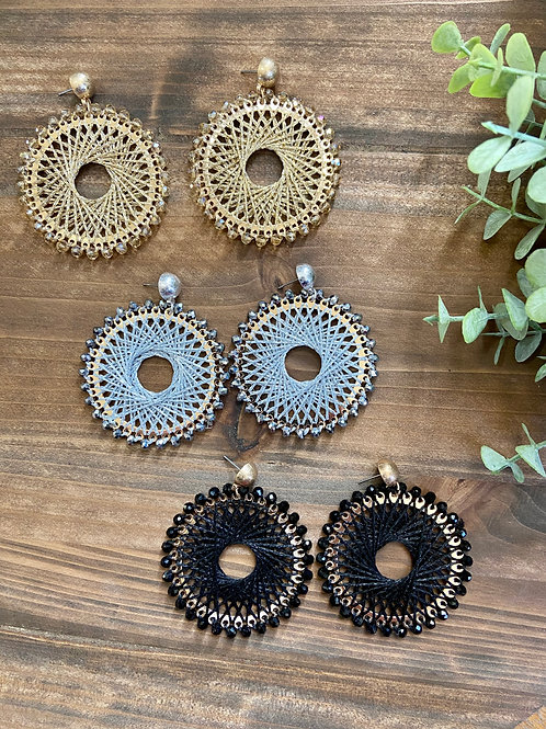 Woven Circular Earrings