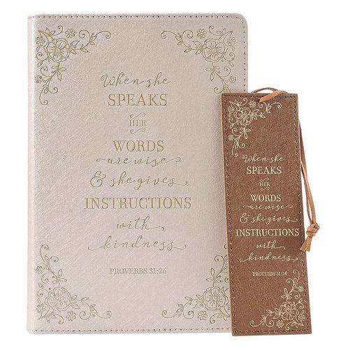 She Speaks Journal & Bookmark