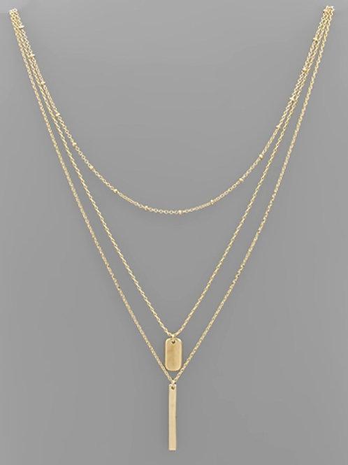 Triple Double Necklace