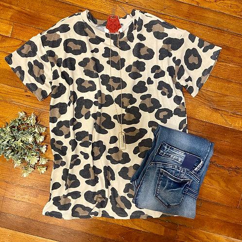 Leopard Loose Fit Top