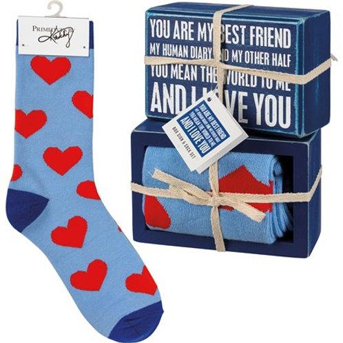 Best Friend Sign & Sock Set