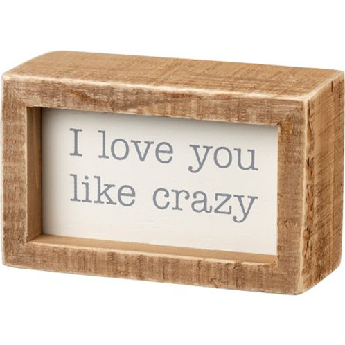 Crazy Love Box Sign