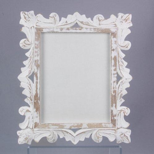 White Carved Frame