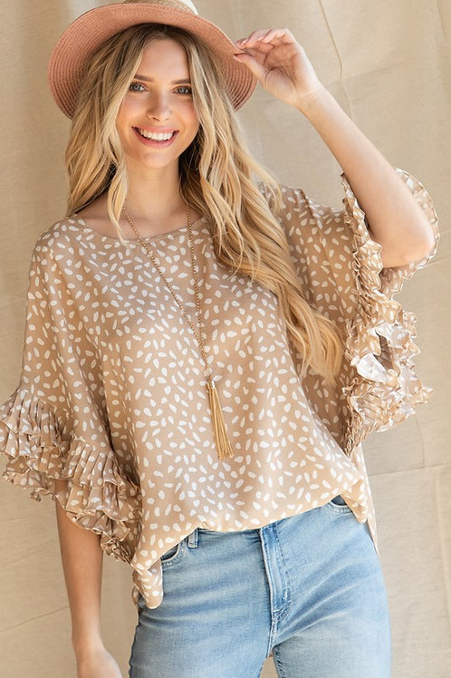 Ruffle Speckle Top