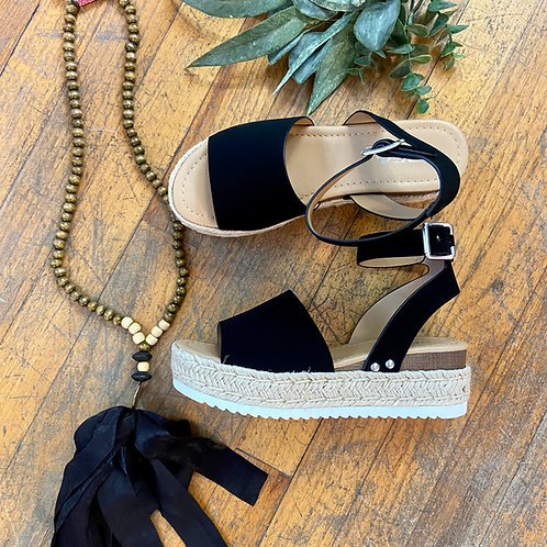 Black Espadrille Sandals