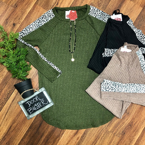 Ribbed Sweater with Animal Extra