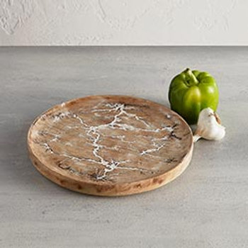Crackle Round Tray