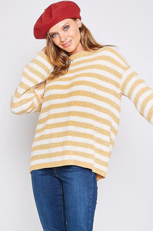Mustard Stripe Sweater