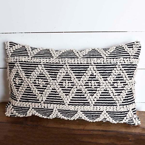 Black & Natural Diamond Pillow