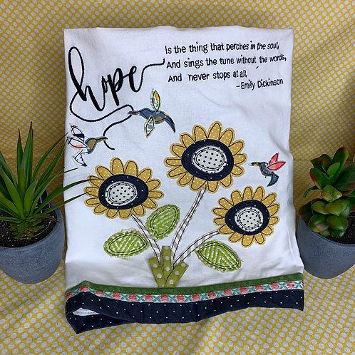 Hope is the Thing tea towel