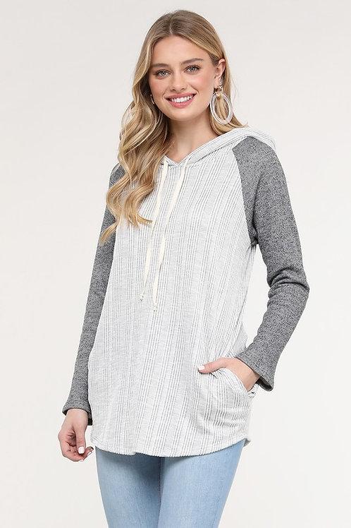 Textured Gray Hoodie