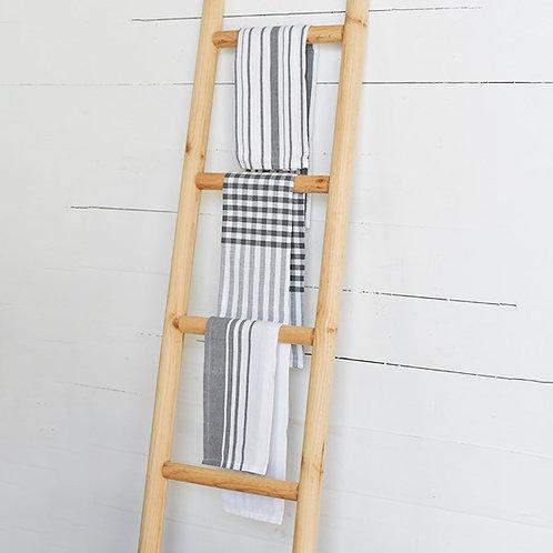 Charcoal Stripe Towel Set