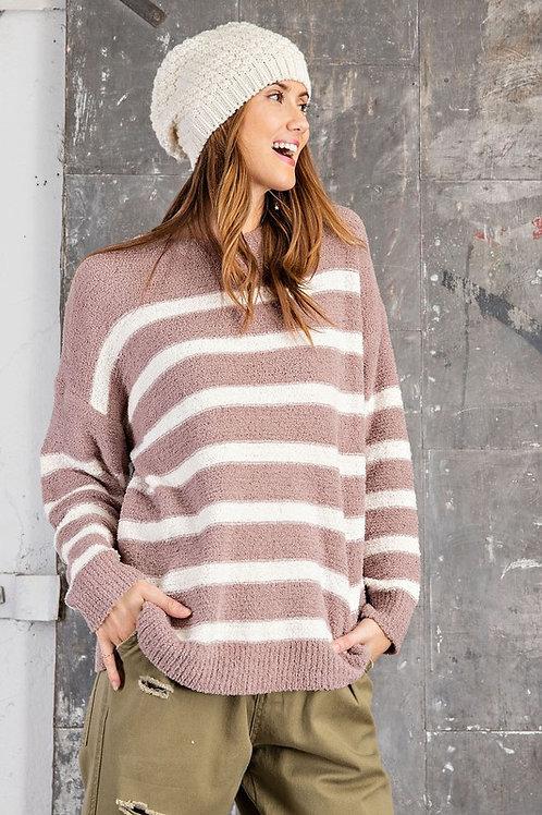 Sweet Mocha Stripe Sweater