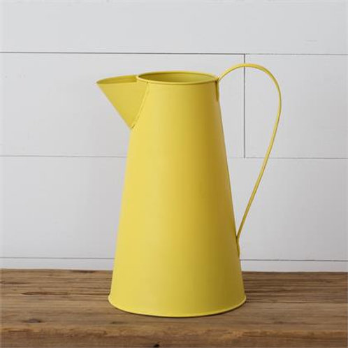 Yellow Metal Pitcher
