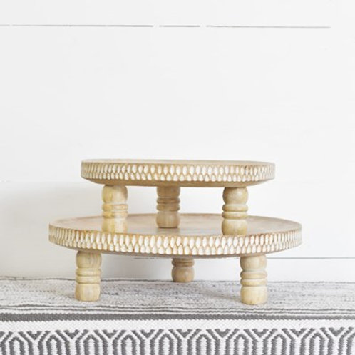 White Carved Risers