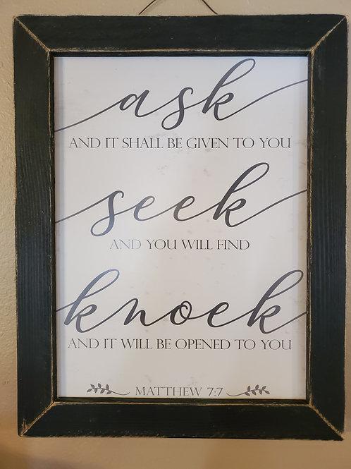 Ask~Seek~Knock Sign