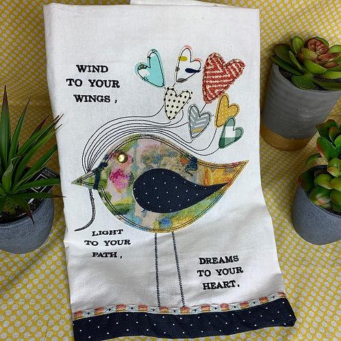 Dreams to your Heart tea towel