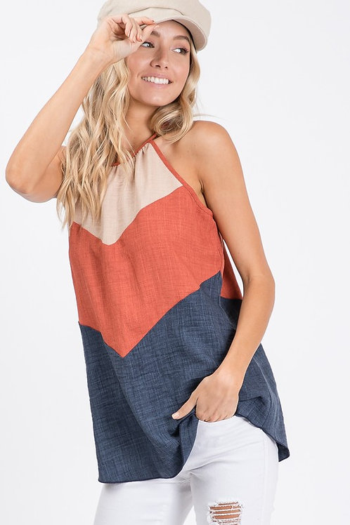 Tri-Color with Tie Back Top