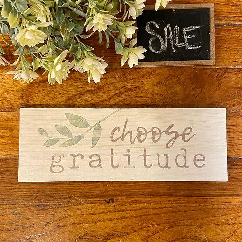 Choose Gratitude Sign