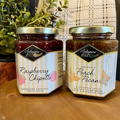 Raspberry Chipotle & Peach Pecan Sauce