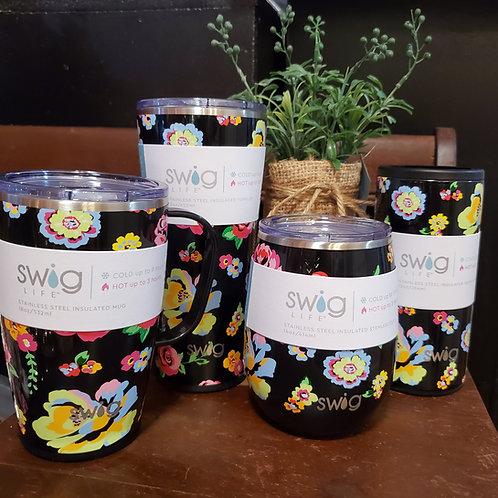 Fleur Noir SWIG Insulated Tumblers