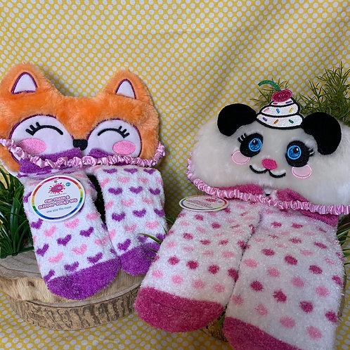 Sleep Mask and Fuzzy Sock Sets