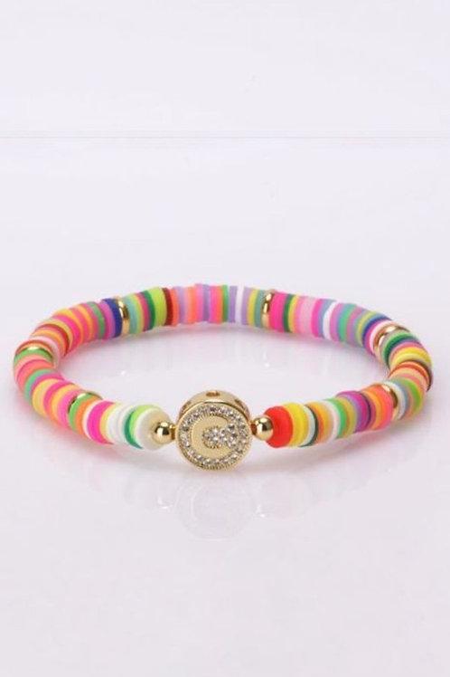 Multi-Color Initial Bracelet