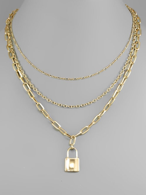 3-Layer Lock Necklace