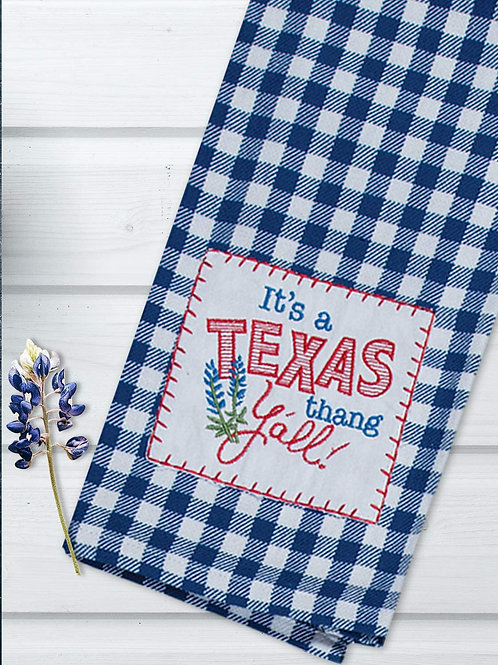 Stiped Texas Thang Towel