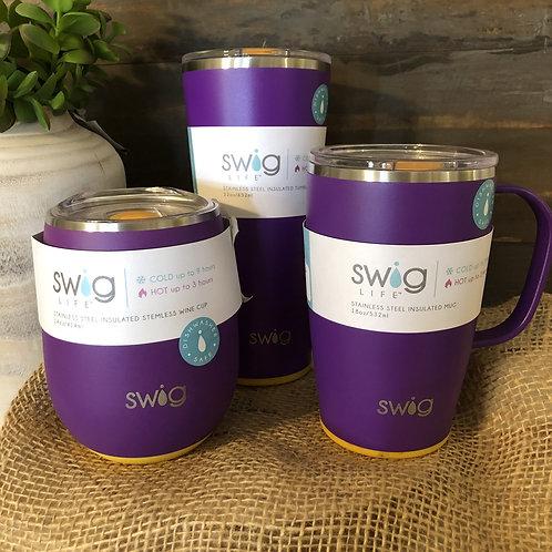 Purple Gold TEAM SWIG insulated Tumblers