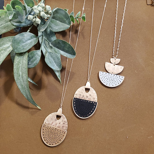 Airy Leather Long Necklaces