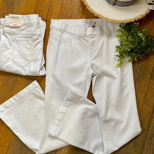 White Flare Pants