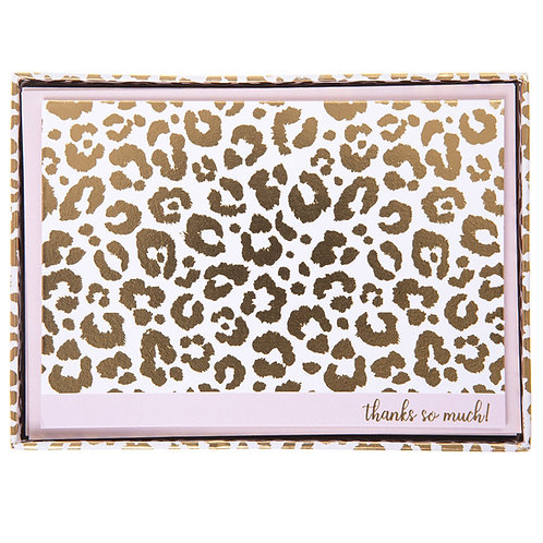 Cheetah Thank You Cards