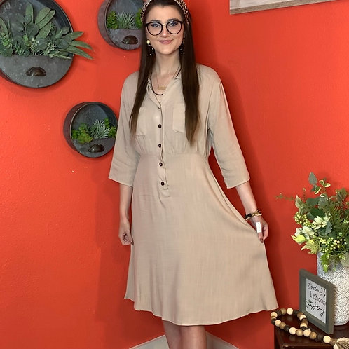 Taupe Classic Dress