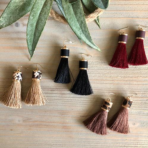 Fabric Tassel  Earrings