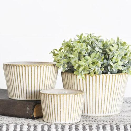 Natural Striped Bowls