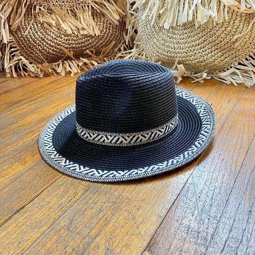 Navy & White Pattern Hat