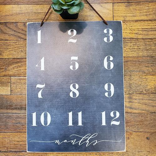 12 Month Slate Board