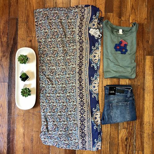 Blue Flair Kimono