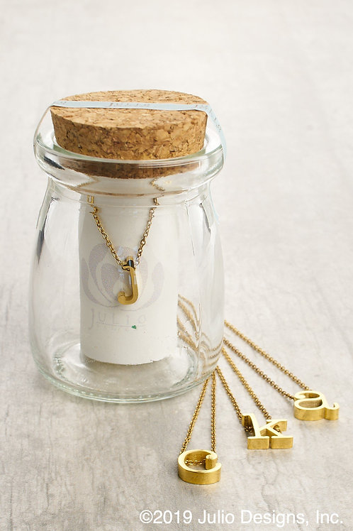 Initial Necklaces in a Jar