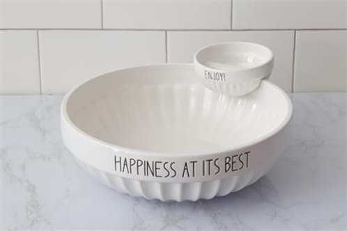 Happiness Chip & Dip Bowl