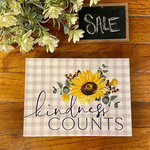 Kindness Counts Sign