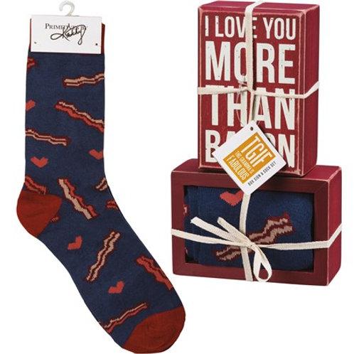 Love You More Than Bacon Set