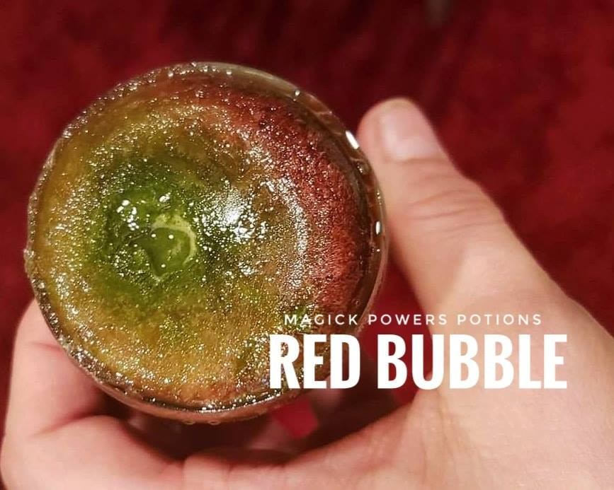 The stunning ruby red produced by the kratom alkaloids following freezing in an acid.
