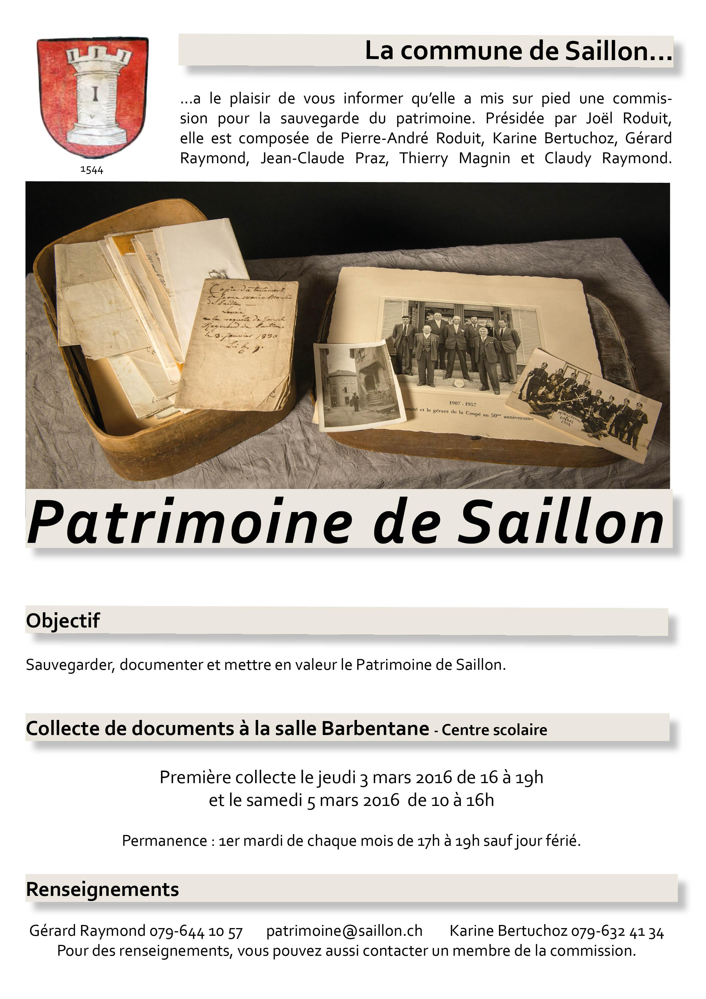 Patrimoine - flyer 2016