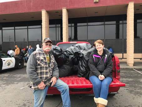 AVF delivers 160 coats and 60 blankets to Modesto Gospel mission!