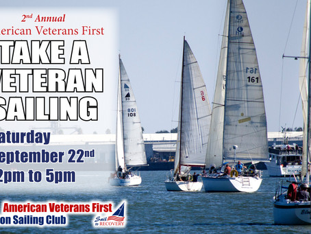 "Second Annual ""Sail to Recovery"" Take A Veteran Sailing event."