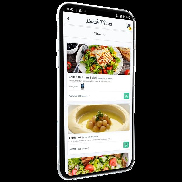 Feature - Order at the table - Restaurant digital menu