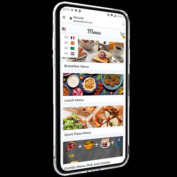 Feature -Multilingual menu - Restaurant digital menu