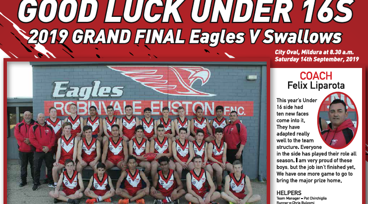 Good luck to our under 16's